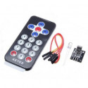 Remote with infrared and receiver sensor