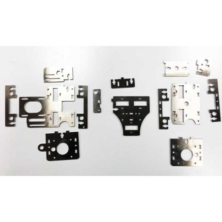 Piezas eje X en aluminio - Actualización Prusa i3 PSIQUE Steel