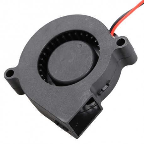 DC 12V 0.06A 50x15mm Black Brushless Cooling Blower Fan 2 Wires 5015S