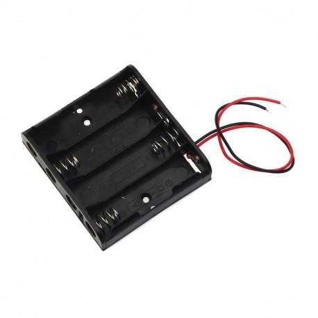 Soporte para baterías - pilas 4 x AA