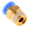 "Pneumatic 1/8"" PT Thread Push In Connectors Fittings for 6mm Tube"