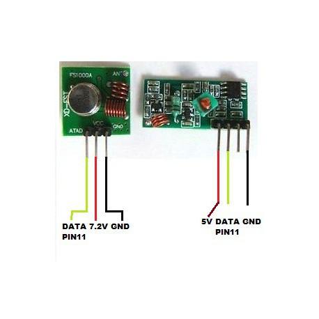 Pareja de módulos de comunicación por radio frecuencia XY-MK-5V y XY-FS