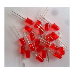 LED 5mm ROJO 28mm patillas