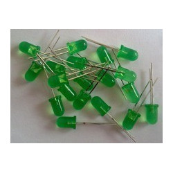 28mm leg LED 5mm GREEN