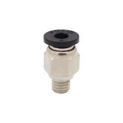 Racor neumática para tubo PFTE de 4mm ext rosca M6