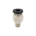 Racor neumática para tubo PTFE de 4mm ext (filamento 1.75mm) Plateado