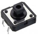 Pulsador de botón 12 x 12 x 7,3 mm