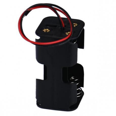 Soporte para baterías - pilas 4 (2x2 AA)