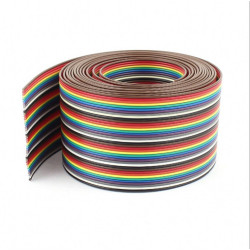 40Pin Flat Rainbow Ribbon Dupont Cable 1.27mm Pure Copper 26AWG
