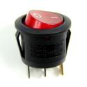 Red Light ON-OFF SPST Round