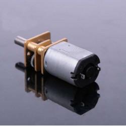 Micro motor de contínua con reductora metálico 12V 100 RPM