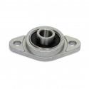 KFL8 8mm Dia Bore Aluminum Alloy Self- Aligning Flange Bearing Oval Pillow Block