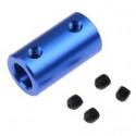 Acople azul 5x5mm CNC