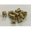 BRASS THREADED INSERTS FXFLB TYPE