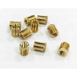 BRASS THREADED INSERTS FX PLKB TYPE M4