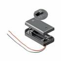 Soporte para baterías cerrado - pilas 2 x AA