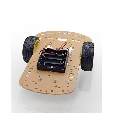 Chasis transparente para ARDUINO Robot Auto