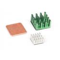 3pcs/set Controller Computer Most Durable Green Silver Cooper Heatsink For Raspberry Pi 3,pi 2,pi Model B+
