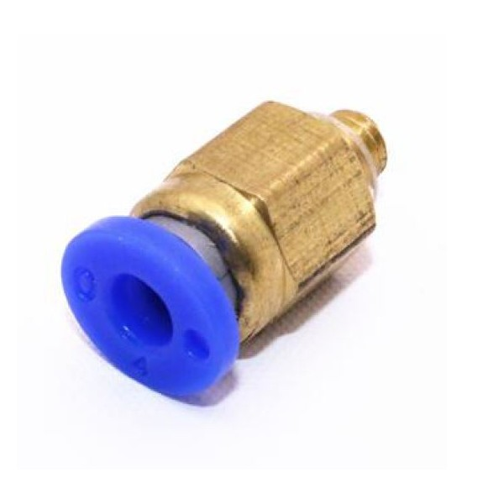 Racor neumática para tubo PTFE de 4mm ext rosca M5