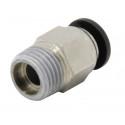 Racor neumática para tubo PTFE de 4mm ext rosca M10