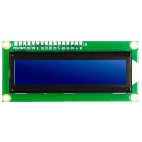 LCD 1602 Azul 5v (compatible con Arduino)