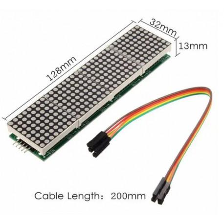 Matriz MAX 7219 32x8 LED Roja
