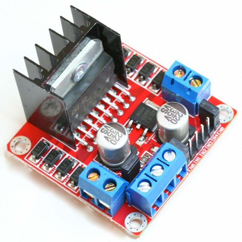 Dual H Bridge Dc Stepper Motor Drive Controller Board Module Arduino Driver Circuit L298n