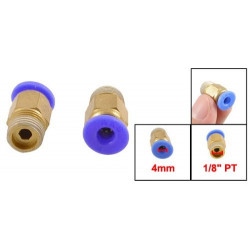 "Pneumatic 1/8"" PT Thread Push In Connectors Fittings for 4mm Tube"