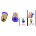 """Racor neumática 1/8"""" para tubo PTFE de 4mm ext"""