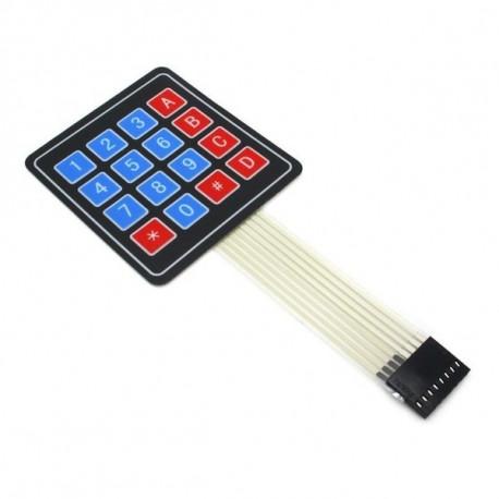 Teclado numérico 4 x 4, Ultra delgado para proyectos Arduino
