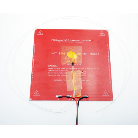 MK3 aluminiun heatbed with thermistor and wires