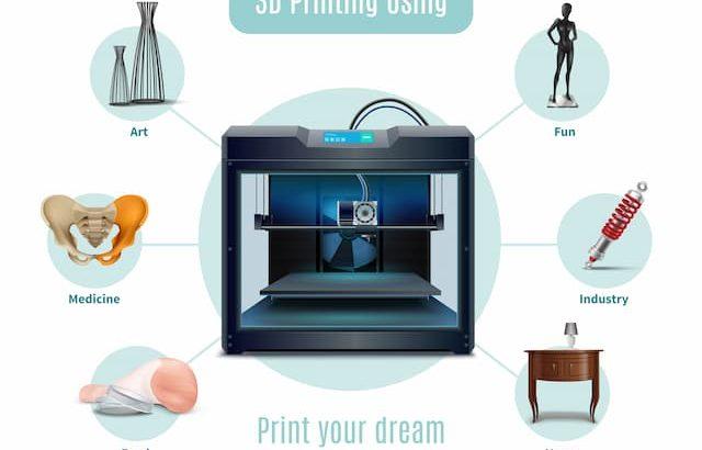 usos recambios impresora 3D